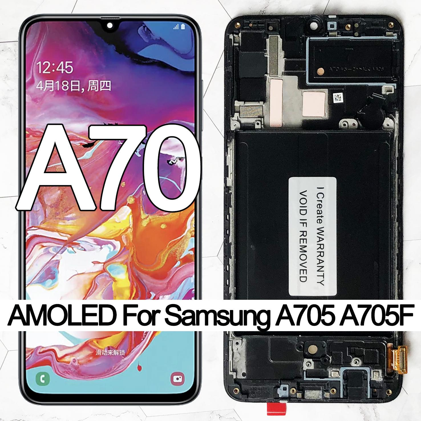 ORIGINAL 6.7'' SUPER AMOLED LCD Display For Samsung Galaxy A70 A705 A705F SM-A705MN Touch Screen Digitizer Assembly
