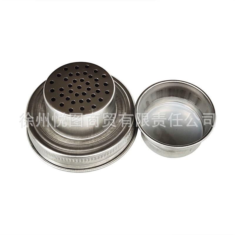 304 Edelstahl Mason Jar Deckel Silikon Dichtungsstecker 70mm Kaliber Shaker Decks Rust Proof Getränkegerg Heißverkauf 4 6YT M2