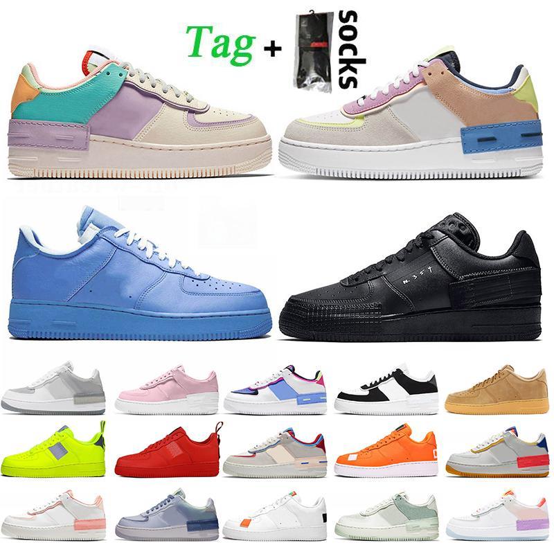 Высочайшее качество Shadow N354 Dunk 1 Женщины Мужские Бегущие Обувь Твист Роскошные Дизайнеры Обувь MCA Университет Синие Тренеры Кроссовки Утилита Вольт