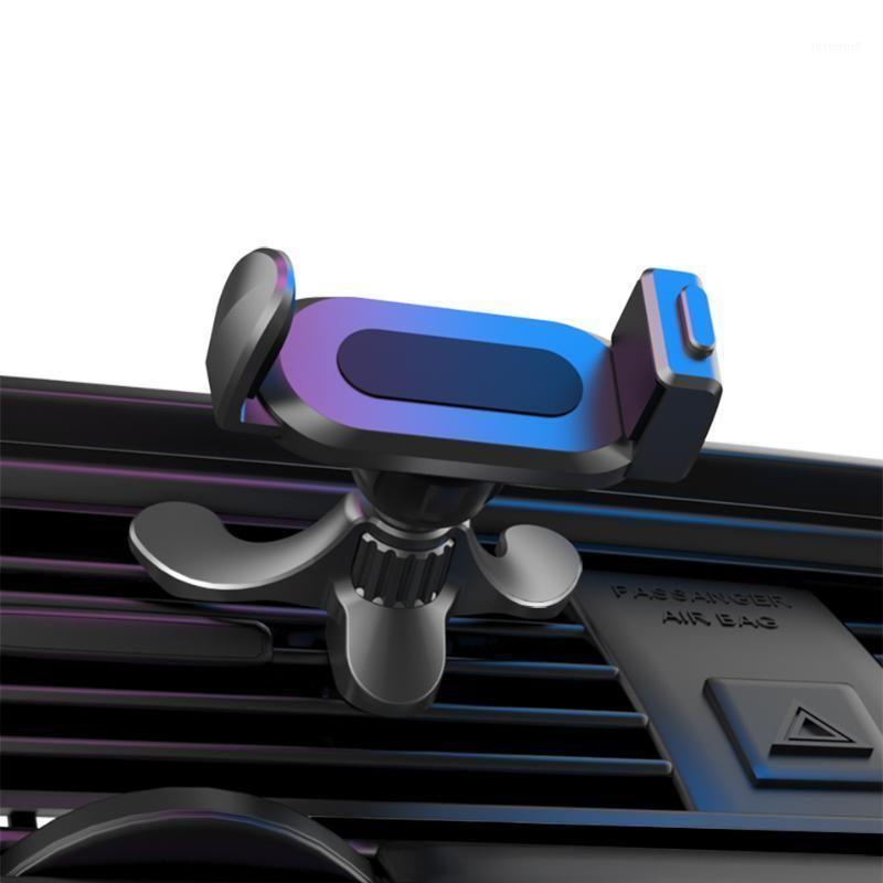 Soporte de teléfonos celulares soportes de automóvil Universal Air Slip de ventilación 17 mm Cabeza de bola Ajustable Soporte móvil en el soporte de soporte de montaje de salida1