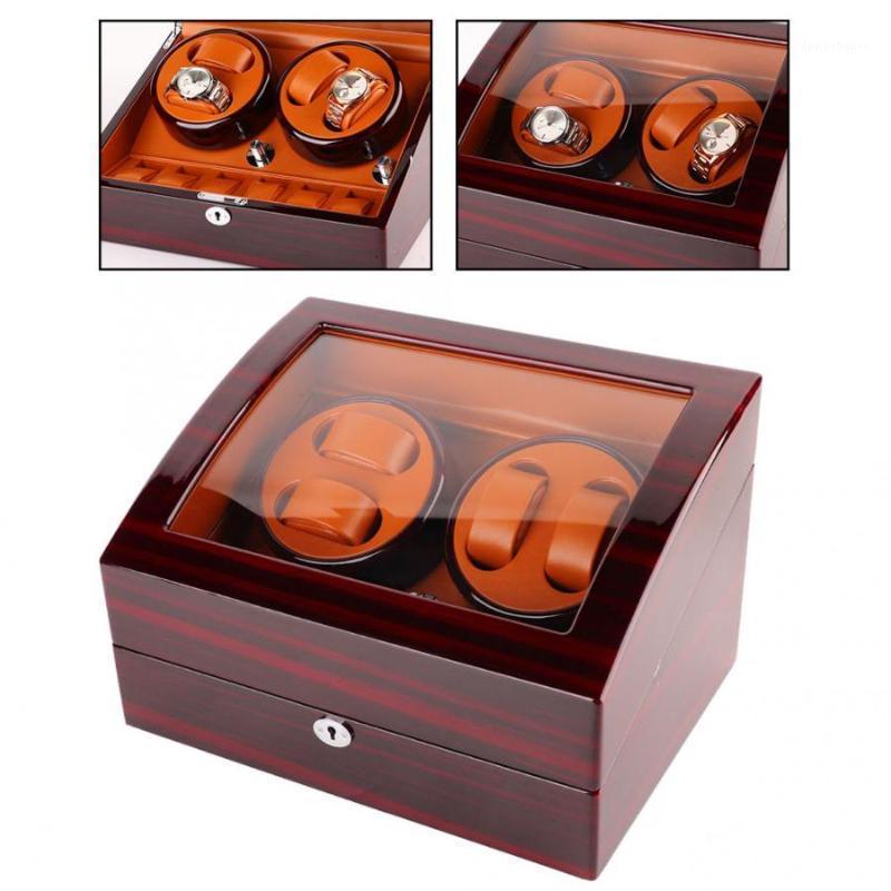 Reloj automático de 4 tragamonedas Professional 4 Slot Winderwatch Rotate Box 100-240V Herramienta de reparación de reloj para Watchmaker1