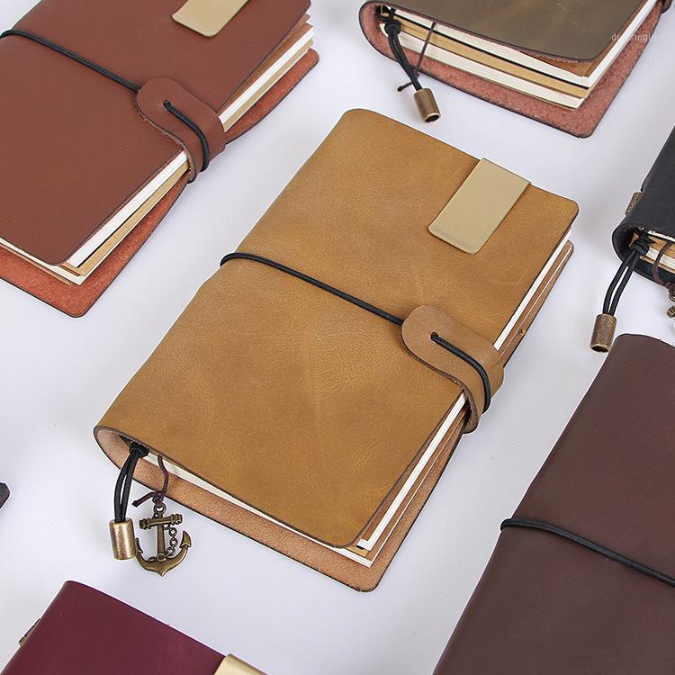 Caderno criativo Handmade Moad Horseskin solo-folha Notebook Aprendizagem Suprimentos Presente1
