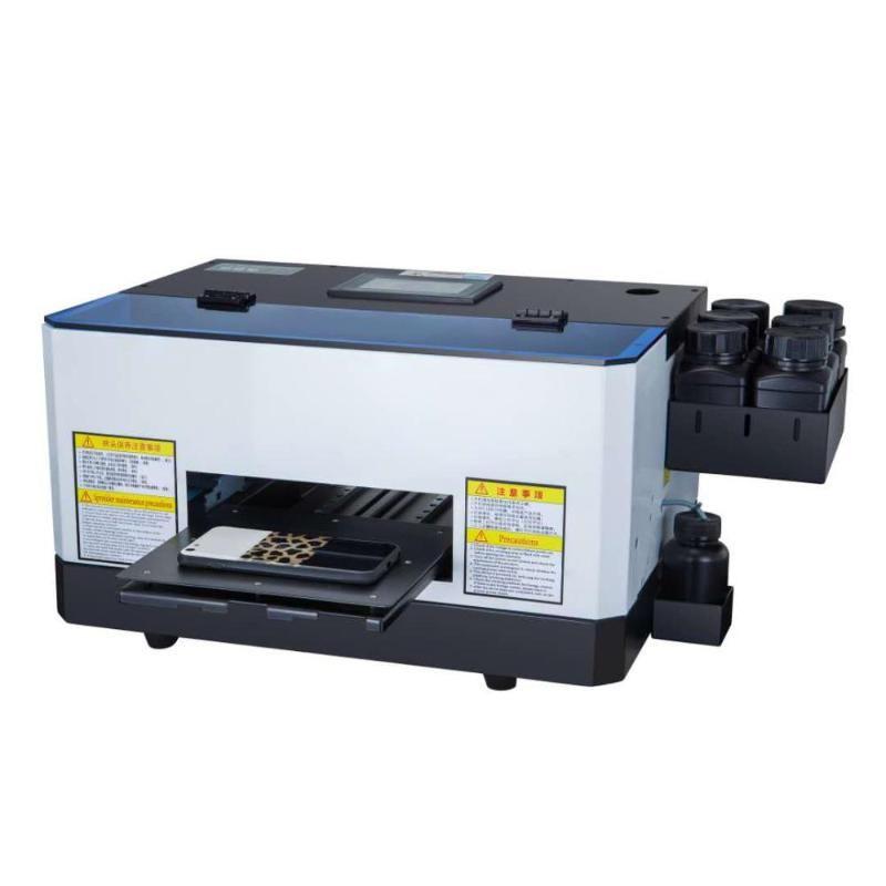 Máquina de impresión de estuche para teléfono Impresora UV plana automática Mini impresora de inyección de tinta para TPU Acrílico de acrílico PC PU de madera de madera PVC
