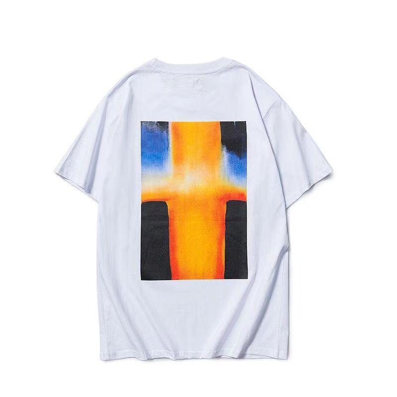 2021 nuova stagione 7 mens t-shirt t-shirt in cotone tshirt 3m riflettore posteriore lettere lettere sovradimensionati t shirt estate t-shirt da donna uomini tees streetwear taglia S-XL