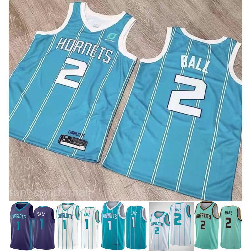 2020 2021 Draft Pick 2 Lamelo Ball Jersey Mint Green Blue White New City Basketball Edition Mann Gute Qualität