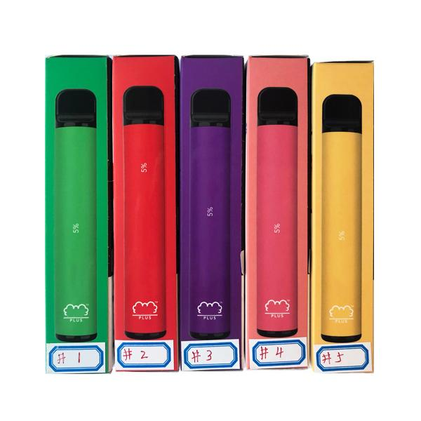 OEM Puff Plus 800 + Puff Einweg-Pod Elektronische Zigaretten-Vape-Pods Stick Puff Bar E-Zigaretten Posh Tragbare Verdampfer Bestvaporseller