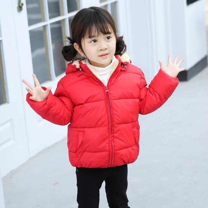Kış Çocuk Aşağı Ceket Erkek Aşağı Pamuk Bebek Yastıklı Kızlar Kalın Ceket Baskılı Kısa Aşağı LJ200831