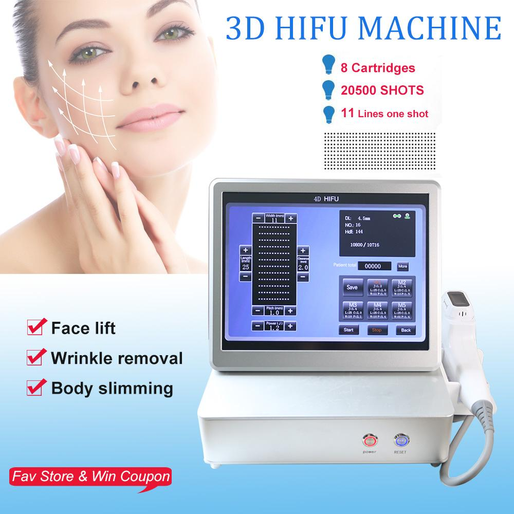 NEW 3D HIFU body and face portable hifu wrinkle removal skin tightening machine ultrasound machine 11 lines
