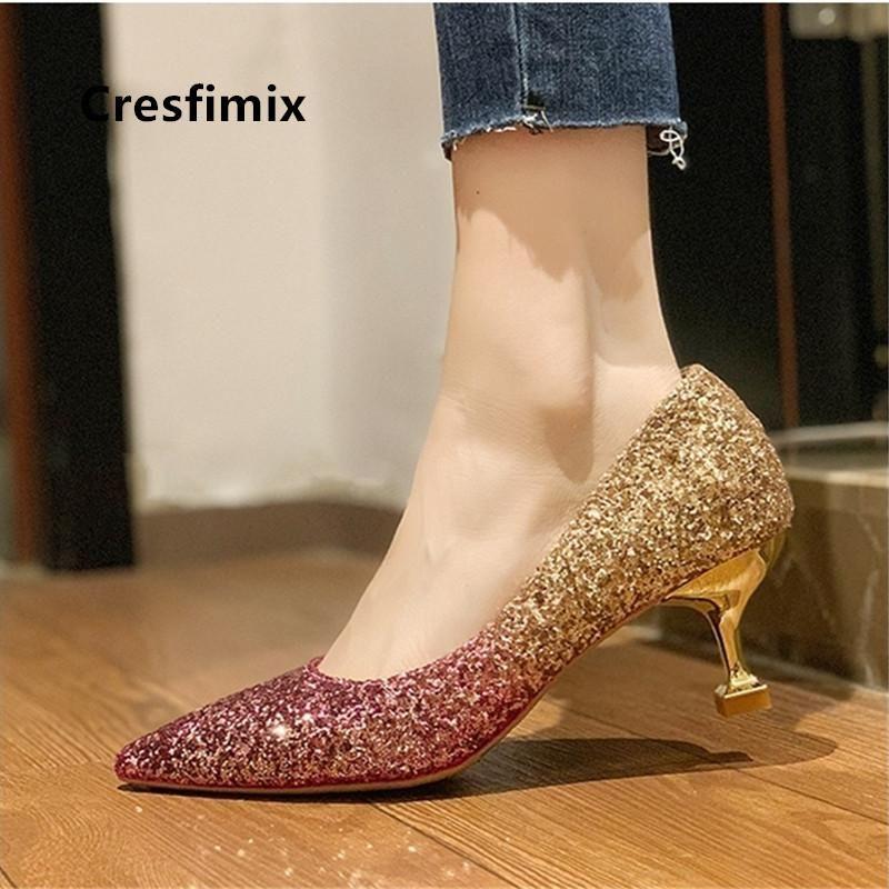 Hot Venta-Fashion Sweet High Quality Golden Tacones Altos Para Ladies Bridal Party Sexy Party Silver Heel Shoes