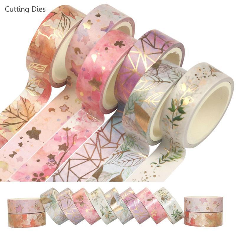 6Rolls Flower Flood Washi Tape Tape Mascarando Tape Washi Set Decorativo Adesivo DIY Adesivo Etiqueta Para Scrapbooking Planner