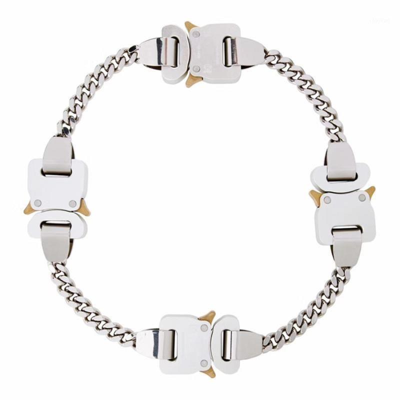 2020 Acciaio inossidabile titanio 1017 Ayx 9SM collana 4 fibbie in metallo Hero catena Ayx collana uomo accessori donna giapponese1