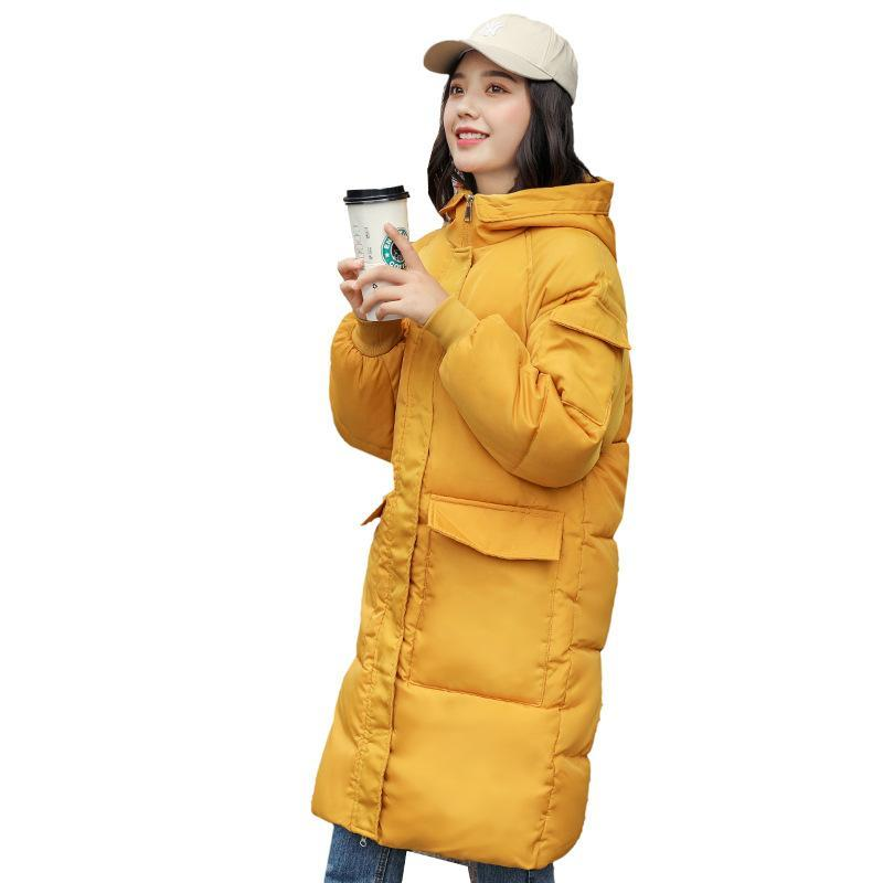 2020 winter jacket female new Korean student bf loose long thick padded parker jackets woman plus size hooded overcoat women