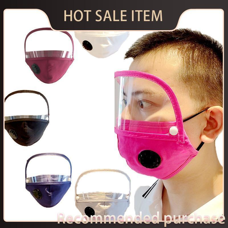 Anti-dust With Valve Mask Dustproof Masks Face Masks Solid Cotton Detachable Fashion Window Mouth EWA760 Visible Shield Clear Eye Adult Lnmf