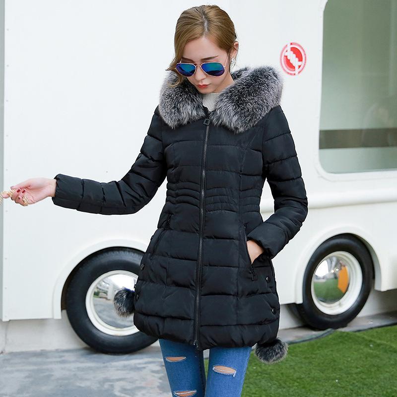 Winter koreanische mittel langer größe schlank anliegende mit kapuze down baumwoll frauen gepolsterte jacke verdickte mantel frau