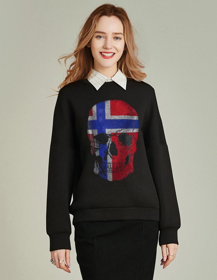 Boyut artı sıcak moda brokar kasnak hoodies kadın sonbahar elmas hoodie jgmx