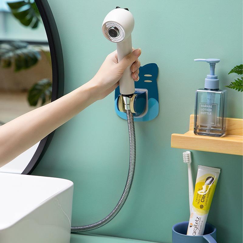 Banyo Aksesuarı Set Karikatür Güçlü Takılabilir Duş Başlığı Tutucu Hareketli Braketi Güçlü Emme Showerseat Chuck Cup