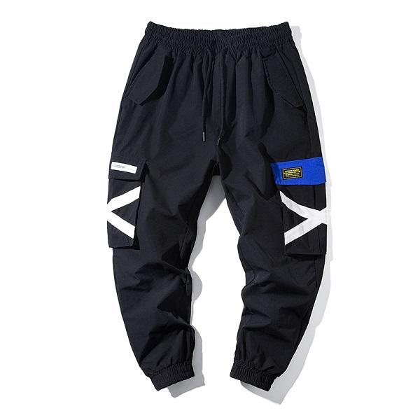 Moda-casual Overoles Nueva marca de moda Pantalones retro Multi bolsillo Monos Menores Perreros de jogging de los hombres Moda para hombre Cómodo