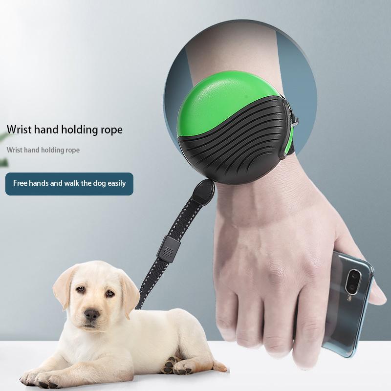 2020 Новый ПЭТ Рука, держащая веревочку Автоматический выдвижной 3 м Наручательный ремень Тяги Большие, Средние и Маленькие Собаки Взрывозащищенный Пункт Z1207