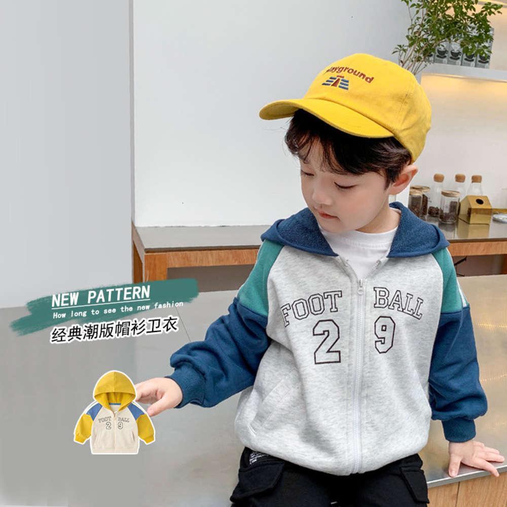 Иностранные мальчики с капюшоном Sleprand и кардиган Корейский 3-летний детский осенний детский пальто 4