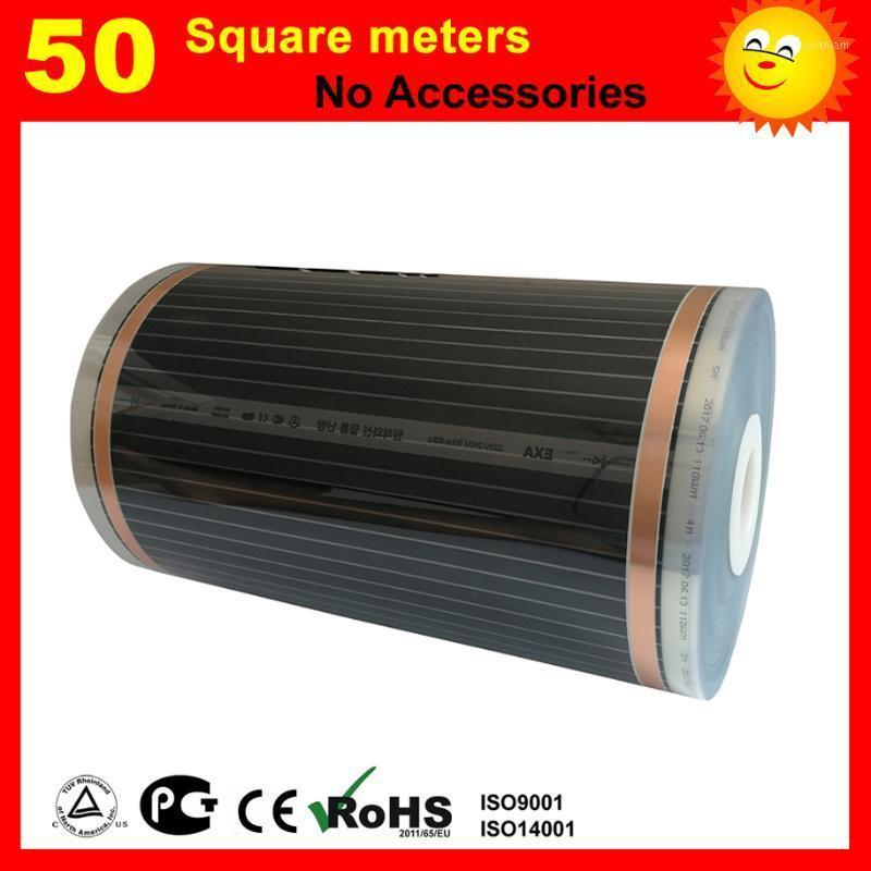 Aquecedores elétricos inteligentes 50 metros quadrados Filme de aquecimento de piso, 220W / filme quadrado para sala1