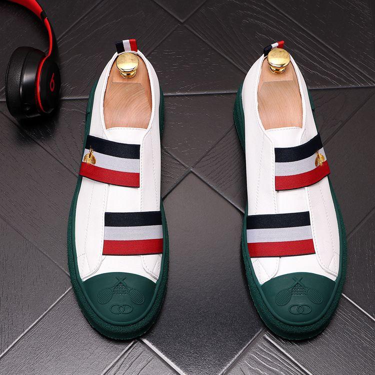 Mode Männer Lässige Müßiggänger Leder Slip-On Kleid Schuh Handmade Rauchen Slipper Männer Wohnungen Hochzeitsfeier Schuhe