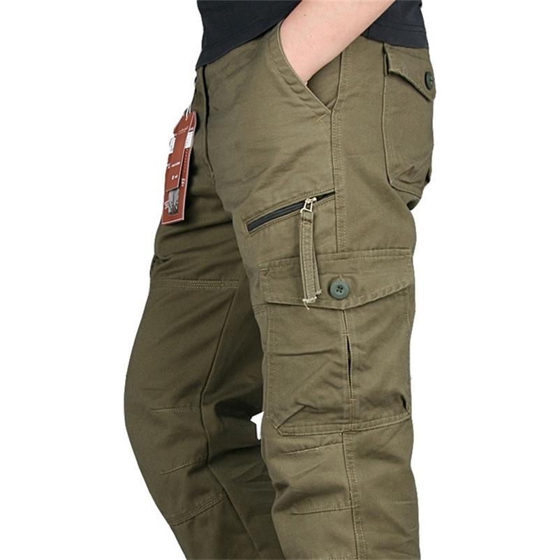 ICPAN Táctico Ejército Militar Ejército Negro IX9 Zipper Streetwear Overg Motores Pantalones de carga Estilo de los hombres 201218
