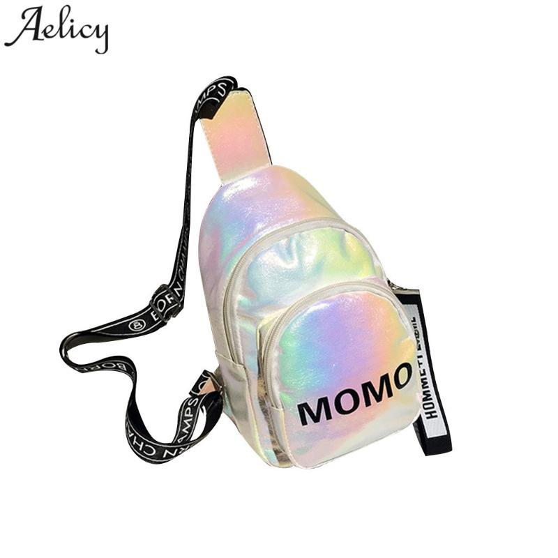 Aelicy Bag Colorido 2020 Hombro Bolsas para mujer Mujeres Lentejuelas de cuero Unisex Bolsas de cintura Dropshipping Para Monederos Crossbody FSRJM