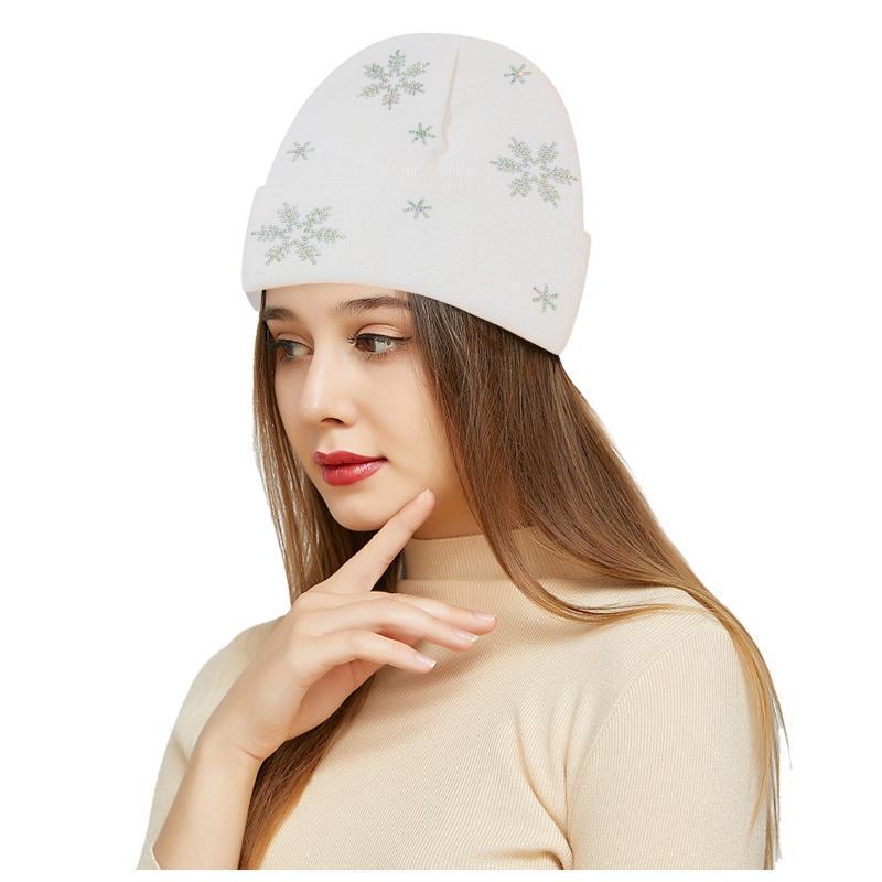 Beanie / Kafatası Kapaklar Sonbahar Kış Yün Örme Şapka Peluş Ve Kalınlaşmak Sıcak Kasketler Şapkalar Casual Kadınlar Katı Battaniye Kafası Kalınlaşmış
