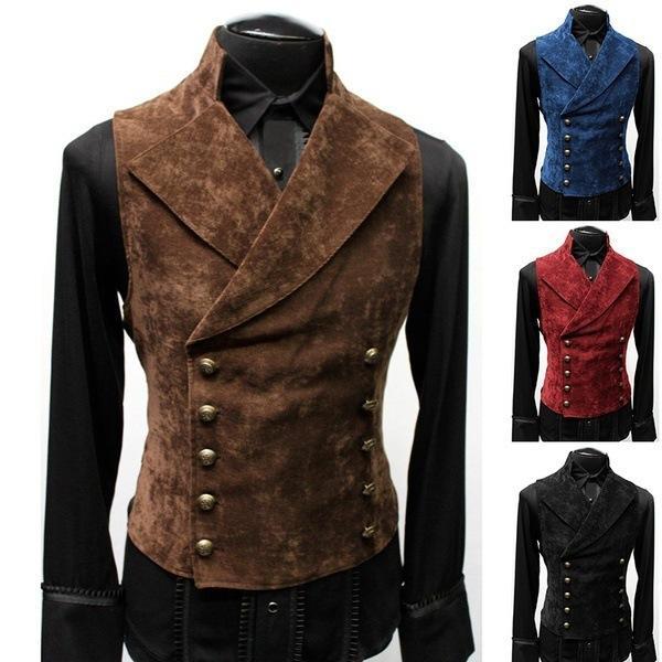Осенью и зима 2021 мужской костюм стенд воротник замшевые двойные куртки жилет