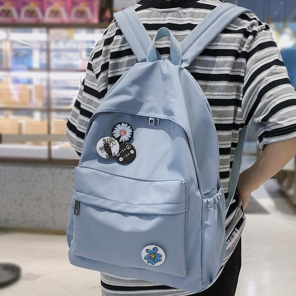 Student Waterproof Girl Cute Women Nylon Kawaii School Bag Lady Book Badge Backpack Female Fashion Bags New Trendy 2020 Q1113