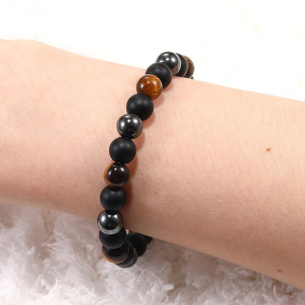 Preço de fábrica 8mm mais novo elástico frisado de pedra natural moda jóias para handmade trançado colorido chakra yoga energia w