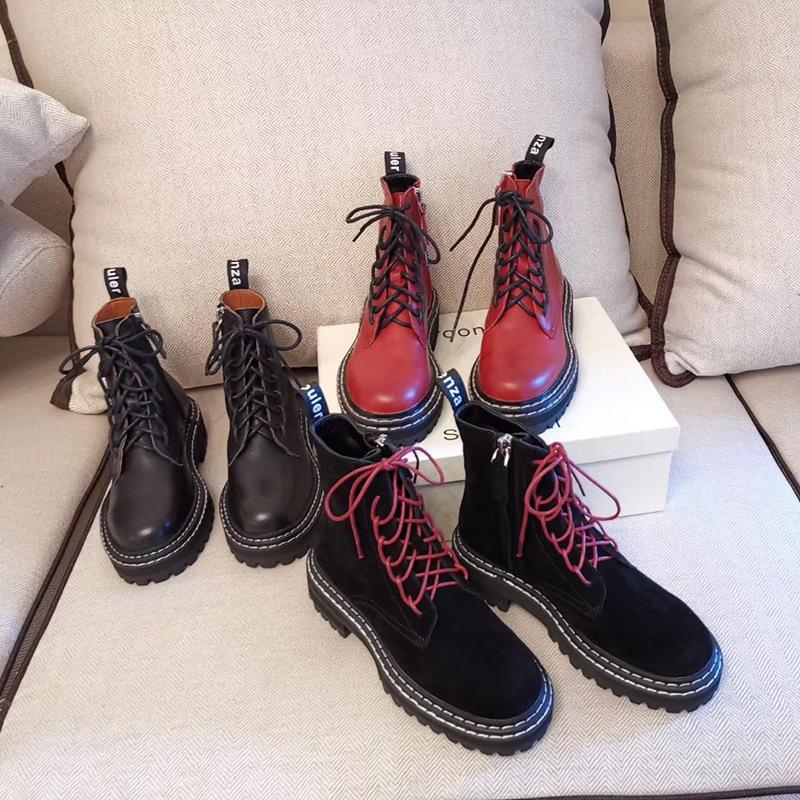 Горячая распродажа - прохладная кожа Martin кожаная шерстяная сапоги внутреннее пальто супер теплые мягкие дизайнерские сапоги ботинки для женщины мотоцикл ботинок Martin Boot