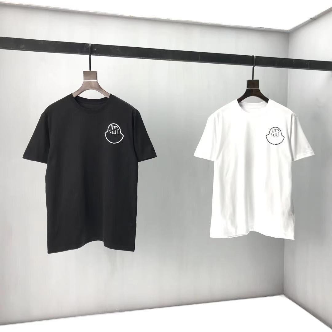 2020SS Frühling und Sommer Neue High Grad Baumwolldruck Kurzarm Rundhals Panel T-Shirt Größe: M-L-XL-XXL-XXXL Farbe: Schwarz Weiß BB2B5