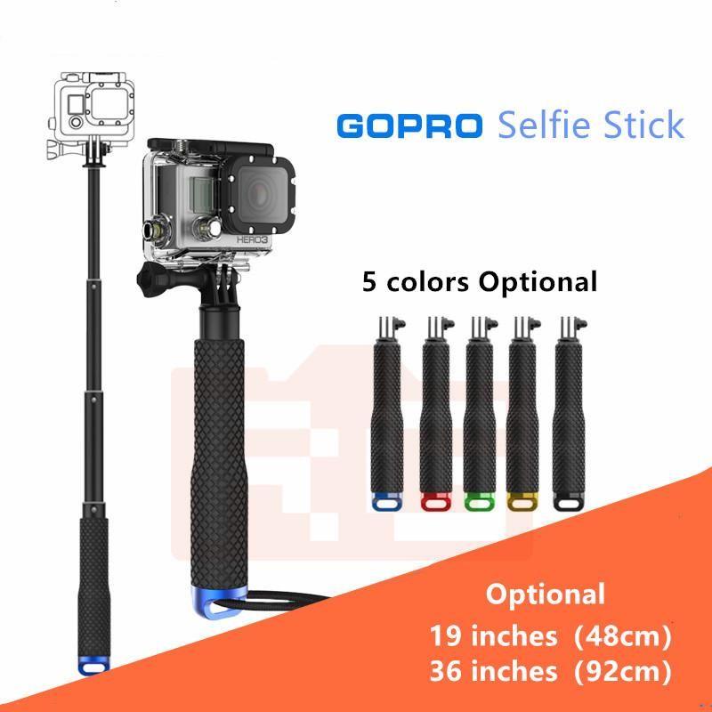 Universal EXTENLABLE POUR GO PRO Stick Handheld Palo pour Hero 5 4 6 7 3+ 3 2 1 SJ4000 Selfie Sticks Monopod Yi