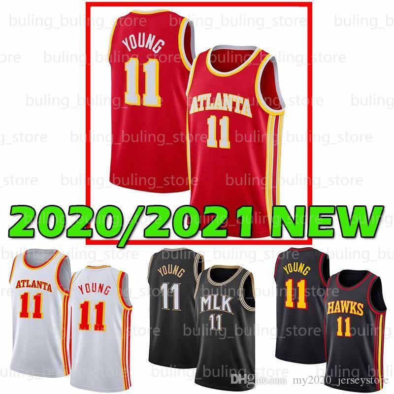 2020 2021 New Atlanta Men Hawk Jersey TRAE 11 Молодой DEANDRE De'Andre 12 Hunter Hunter Spud 4 Webb Oklahoma рано колледжа 20 21 баскетбол