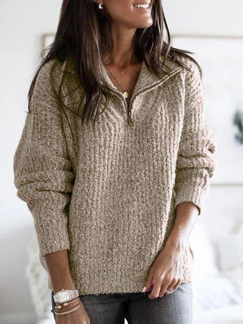 knitted women casual Houndstooth lady pullover sweater female Autumn winter retro jumper 2020