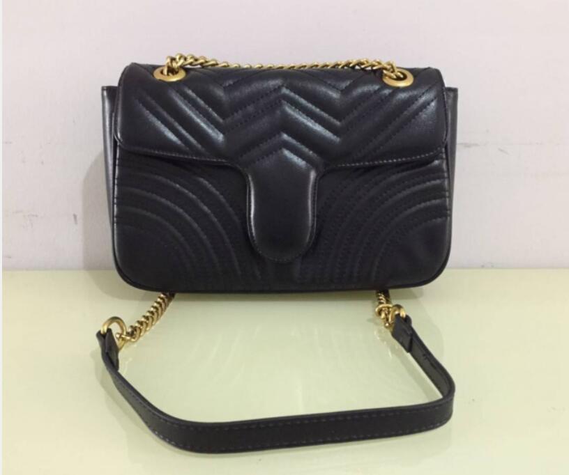 أعلى جودة المرأة حقيبة الكتف الذهب والفضة سلسلة حقيبة crossbody نقية اللون حقيبة crossbody رسول حمل حقيبة محفظة walle 26cm mnbv5g