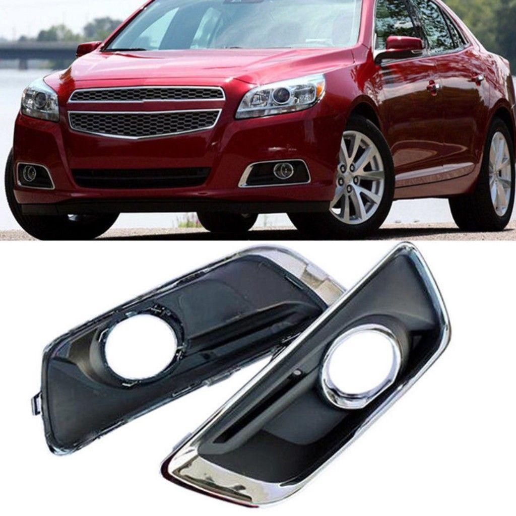 Copertura della lampada 2pcs Car Kit Nuovo nero Anteriore sinistro + Destra Paraurti Fendinebbia Grille Fit per Chevrolet Malibu 2013-2015