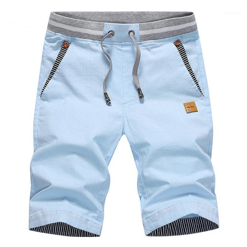 Pantaloncini da uomo 2021 Summer Solid Casual Men Cargo Plus Size 4XL Beach M-4XL Elegante Streetwear Elastico Vita elastica SILM1