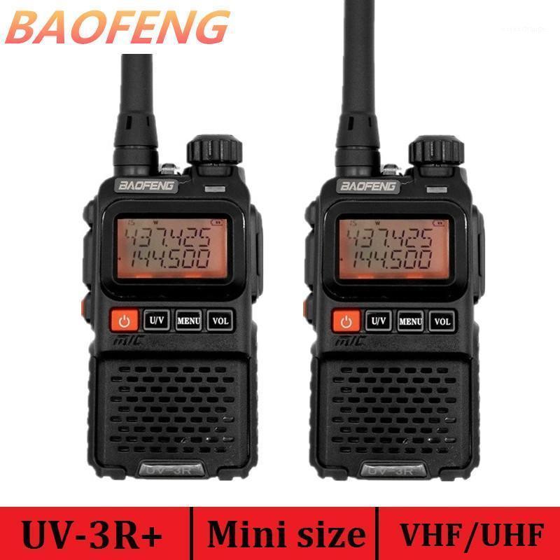 Walkie Talkie 2PCS Baofeng UV-3R PLUS Lange Range Portable CB Radio Comunicador UHF VHF HAM MINI передатчик UV-3R + Antenna1