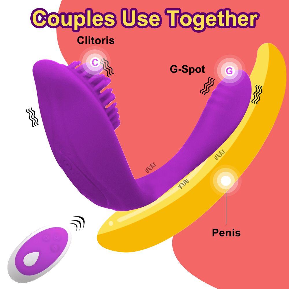 원격 제어 Couples 용 딜도 진동기 팬티 G-Spot Clitoris 자극 자위 여성을위한 성인용 성인 LJ201124