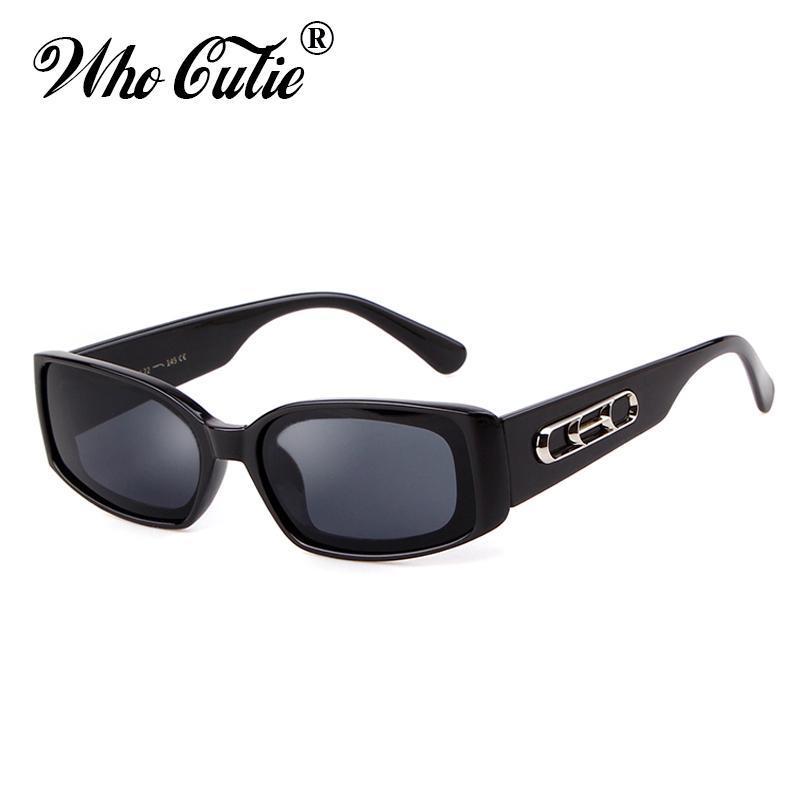 WHO Cutie 90s Moda Güneş Gözlüğü Kadın Marka Tasarım Retro 2020 Dikdörtgen Turuncu Çerçeve Vintage Kadın Güneş Gözlükleri Shades OM824