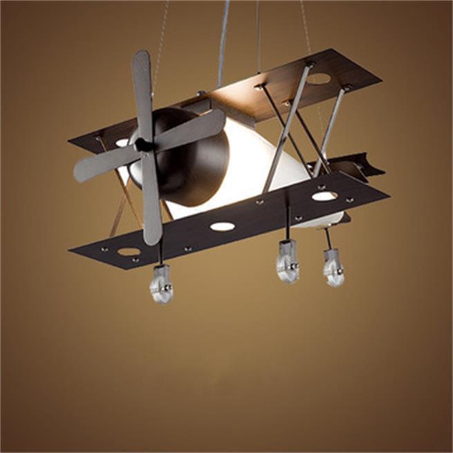 الأمريكية الحديد المطاوع الطائرات الثريا الإضاءة النمط الصناعي شخصية شريط قلادة أضواء مطعم بار الإبداعية مصابيح الشمال