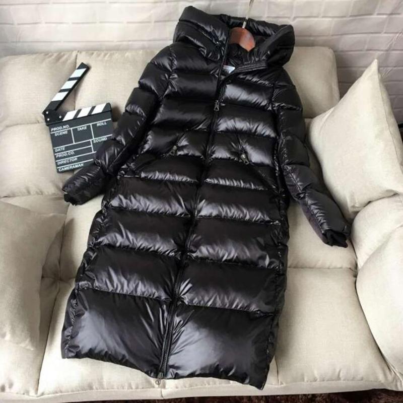 90% de canard blanc down veste femmes épaisses longues manteau d'hiver femmes à capuche coréenne femelle gonfleur veste doudoune femme