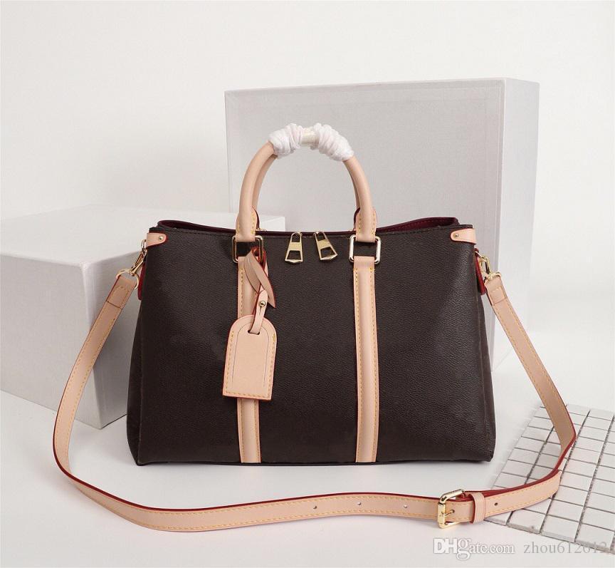 Çanta Kaliteli Seyahat Çanta Tasarımcı Hakiki Luxurys Omuz Tote Açık Deri Moda Kadın Çanta Yüksek Çanta FSNDU