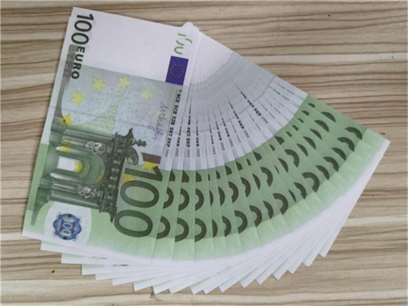 Party 2021 Complefect 100 контрафактные банкноты фильм прямо поддельных пистолетов коллекции атмосферы банкноты горячей евро евро оптический игрушечный игровой этап Mo Ritt