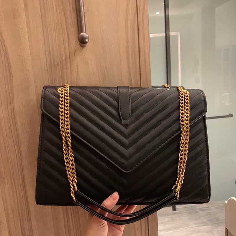 Femmes Luxurys FashionDesigners Sacs 2021 Dame Messenger Motif de vague Sac à bandoulière en cuir véritable sac à main à sacs à main