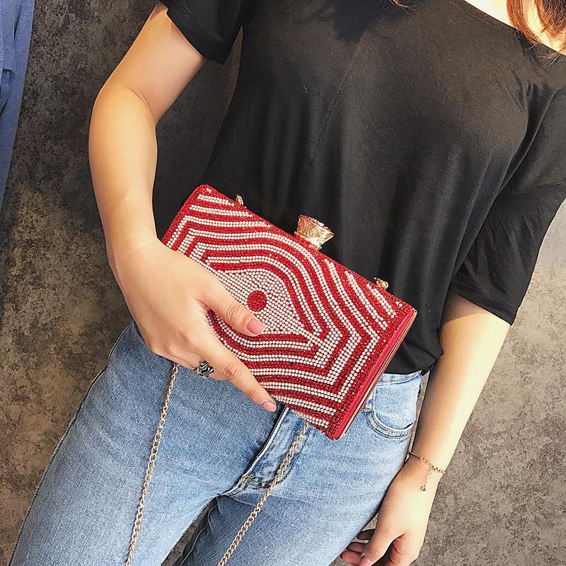 Bolsa de moda 2021 diamante estilo incrustado cocktail bolsa bolsa mulheres dinheiro embreagem bolsa bolsa de noite 5 cores
