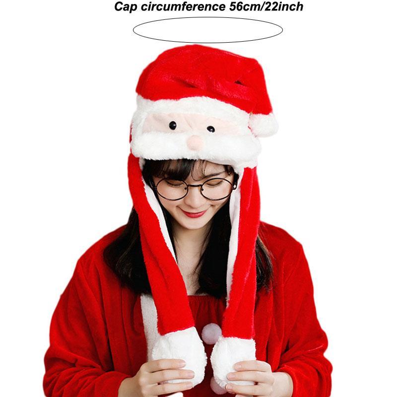 Regalo di Natale Bluffy carino cappelli santa claus alci cappello allegro natale decorazioni auricolare moving fawn adorabile tappi peluche giocattoli per partito favori cappelli EEF3744