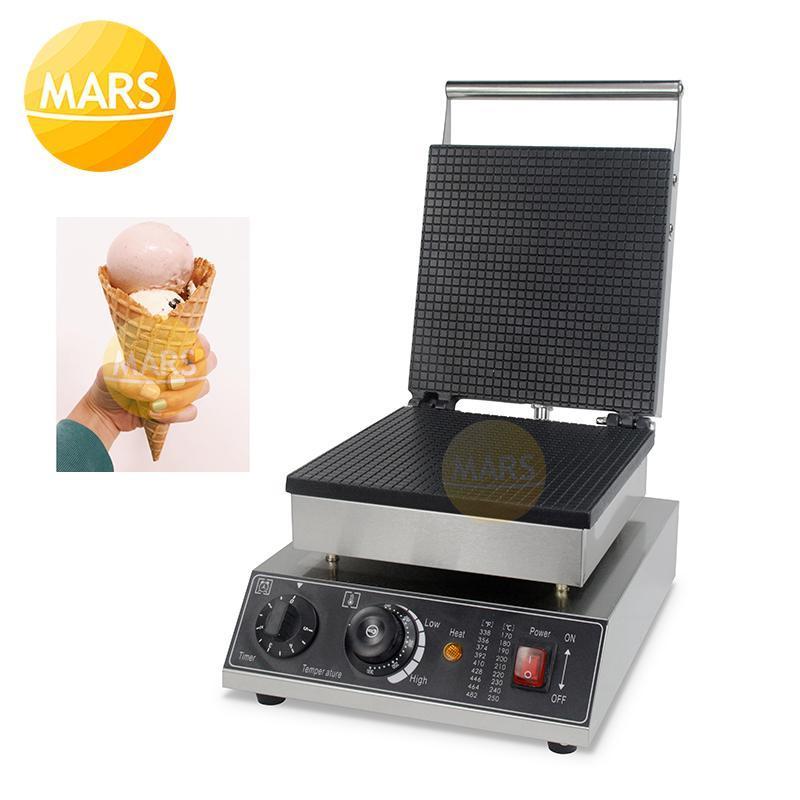 Hollande commerciale ronde Stroopwafel fabricant antiadhésif électrique glace glace glacée gaufre machine de fabricant de cuisson gaufre